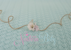 Peach/Pink Fancy Hair Tie